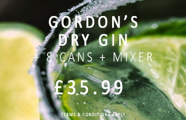 Dial-a-crate.com Gordon's Dry Gin Cans Mixer Special Offer Banner