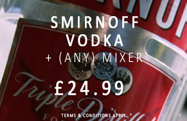 Dial-a-crate.com Smirnoff Vodka Mixer Special Offer Banner
