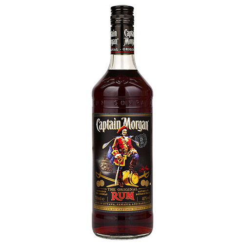 Dial-a-crate.com Late Night Bottle Of Captain Morgan Dark Rum Delivery Cardiff Product Image